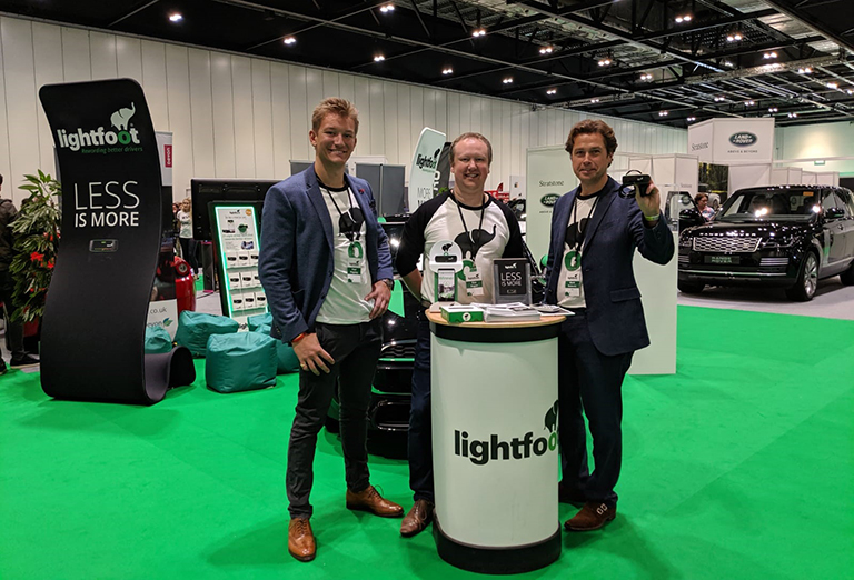 Lightfoot's Commercial team at the London Motor Show