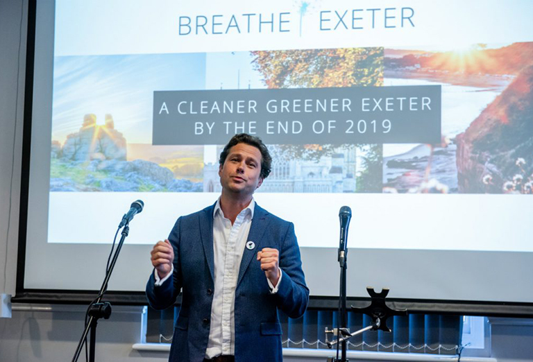 Lightfoot officially launches Breathe Exeter