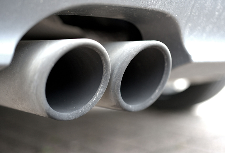 Exhaust pipe of a motor vehicle