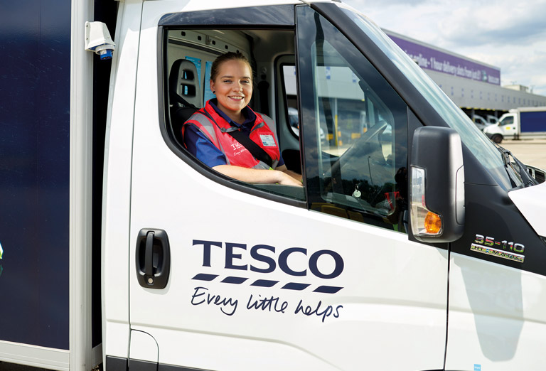 LIGHTFOOT DRIVER TECHNOLOGY HELPS TESCO GROCERY HOME SHOPPING SLASH VEHICLE EMISSIONS ACROSS UK AND ROI